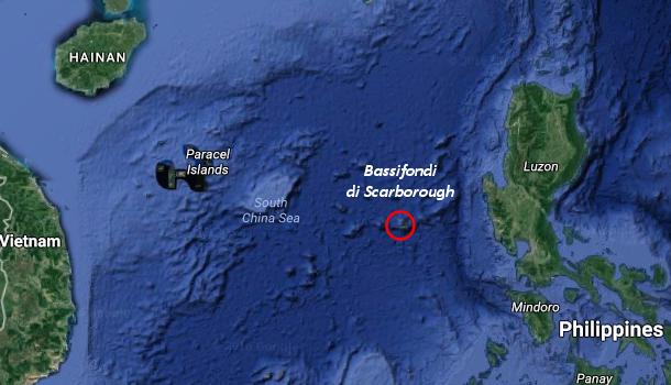 Scarborough Shoal, dove è stato catturato il drone USA.