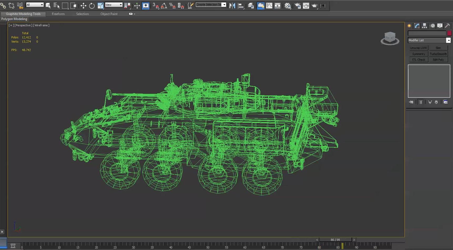 Modello 3D di un carro armato