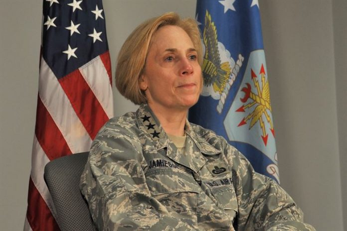 U.S. Air Force Lt. Gen. VeraLinn Jamieson, Intelligence, Surveillance and Reconnaissance Deputy Chief of Staff. U.S. Air Force photo by Staff Sgt. Laura R. McFarlane/Released